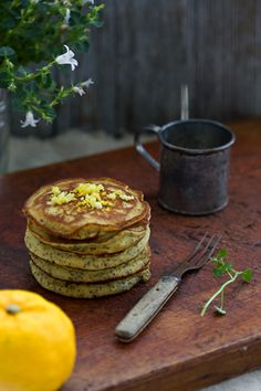 Yuzu Poppy Seed Quinoa Pancakes  1/2 cup (90 g) sweet rice flour or white rice flour  1/2 cup (60 g) quinoa flour  2 tablespoons blond cane sugar  1 teaspoon baking powder  1/2 teaspoon baking soda  2 pinches sea salt  2 tablespoons poppy seeds  fine
