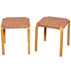 Pair of Stools by Alvar Aalto | From a unique collection of antique and modern stools at http://www.1stdibs.com/furniture/seating/stools/