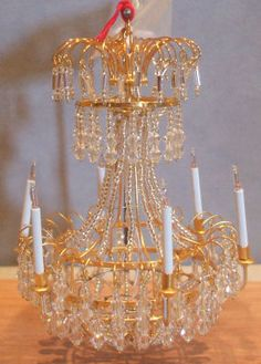Palace Chandlier by Robert Ward - $1,995.00 : Swan House Miniatures, Artisan Miniatures for Dollhouses and Roomboxes