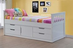 Sleepland White Captains Bed With Storage