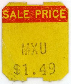Vintage price tags. Just in case.THESE ARE MY FAVORITE!!