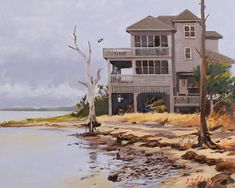Rodanthe House Sketches, Mansions, House Styles, Painting, Home Decor, Art, Drawings, Art Background, Decoration Home