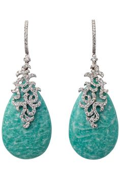 Etername spring 2013 turquoise and diamond earrings High Jewelry, Jewelry Box, Jewelry Accessories, Jewlery, Bling Bling, India Jewelry, Fantasy Jewelry, Diamond Are A Girls Best Friend, Necklace Designs