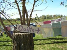 This sign is at one of my favorite places Pleasant Valley Quilts on an Amish farm.