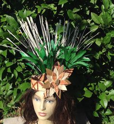 Tahitian Costume And Cook Island Headpiece. by TiareOPatitifa Hawaiian Themed Outfits, Tahitian Costumes, Cook Islands, Luau, Headpiece, Dancer, Trending Outfits, Unique Jewelry, Vintage