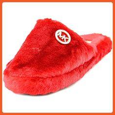 Michael Michael Kors Jet Set MK Fur Women US 11 Red Slipper - Slippers for women (*Amazon Partner-Link)