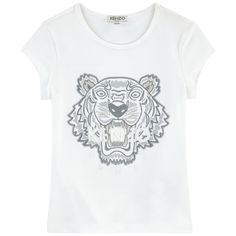 0111effa KENZO KIDS Tiger Embroidered Cotton Sweatshirt (€82) ❤ liked on ...