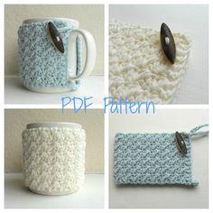 Becher gemütliche Crochet Pattern - Cup Cozy - Becher Umarmung PDF
