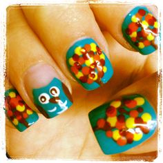 Owl fall nail designs @Ashley Healy figured you would enjoy these :)