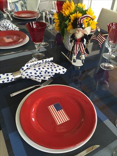 4th of July tablesetting