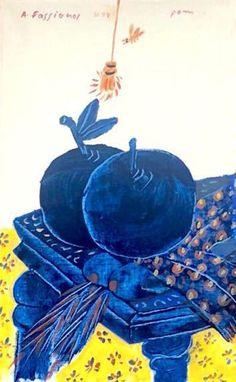 Alekos Fassianos | Chevalier de la lune | Artsy Moving To Paris, Stage Decorations, Installation Art, Art School, Oil On Canvas, Gallery Wall, Artsy, Fine Art, Drawings