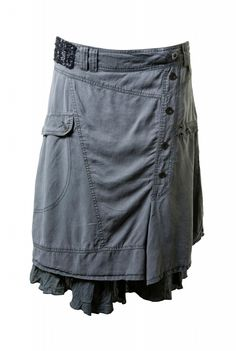 Grey woven winter skirt