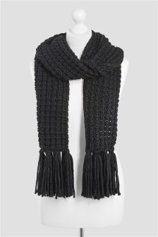 Popcorn Knitted Scarf (739996) | $30