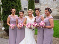 Bridesmaids wear M587 in Fino Lavender