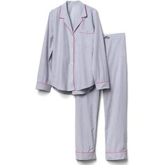 Breast Cancer Research Foundation sleep set (945.375 IDR) ❤ liked on Polyvore featuring intimates, sleepwear and pajamas