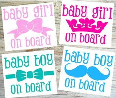 5 tall Baby Boy/Gril on Board Decal  Baby Car by BubbaAndDoodle2