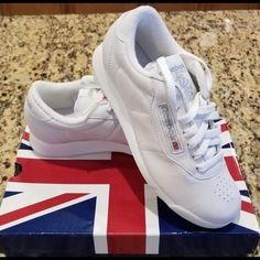 NEW Womens Reebok Princess Classic White Leather Shoes  1475 Size 8 1 2  Medium 0e30b4019