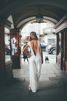Combinaison de mariée RAVENNE sur-mesure Manon GONTERO couturier-créateur collection 2016 Photos:Soulpics