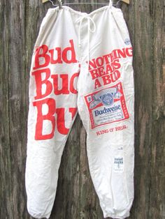 Budweiser Beer Vintage sweatpants by BmoreUnique on Etsy