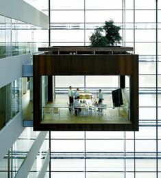 conference rooms in danish bank kykredit's headquarters. designed by schmidt hammer lassen architects and constructed in copenhagen.