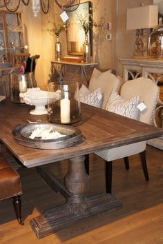 Grey Wash Trestle Table