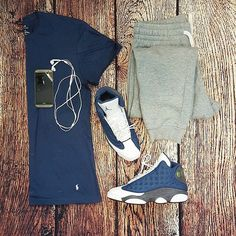 Fall Fashion or: by for on-feet photos for outfit lay down photos Swag Outfits Men, Dope Outfits, Casual Outfits, Fashion Outfits, Fashion Tips, Fashion Trends, Men Jordan Outfits, Fashion Inspiration, Urban Fashion