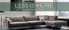 """""""Less is more""""…meno è meglio! Un  divano dal design giovane e minimalista, caratterizzato da linee essenziali e da una da forte connotazione d'eleganza.  Eleganza senza eccessi, espressa da geometrie architettoniche semplici che accolgono sedute generose con linee morbide e confortevoli. La leggerezza stilistica di questo divano è data dall'elegante piede-balester, appositamente disegnato per far sì che le sedute risultino come """"sospese"""" nello spazio.   #divano #comfort #InteriorStudioBoveri"""