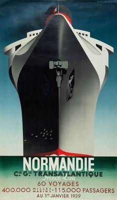 Normandie Poster - Cassandre, affichiste et dessinateur de caractères majeur de l'entre-deux-guerres (1901-1968)
