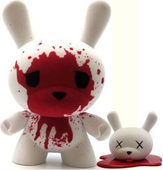 "Luke Chueh 8"" Blood & Fuzz Dunny"