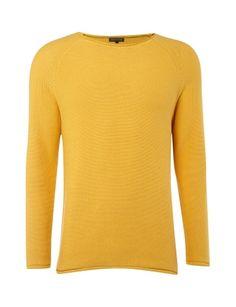 REVIEW Pullover aus Baumwolle mit Raglanärmeln in Gelb online kaufen (9527068)   P&C Online Shop