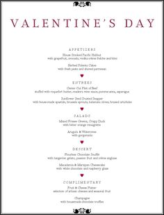 valentine day dinner specials san diego
