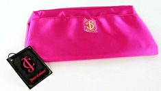 Juicy Couture Hot Pink Satin Clutch Purse with Black & White Striped Lining NEW Striped Tote Bags, Pink Tote Bags, Beach Tote Bags, Pink Crossbody Bag, Pink Clutch, Coin Purse Wallet, Clutch Purse, Girls Winter Hats, Juicy Couture Wallets