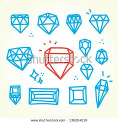 vintage diamond drawing - Google Search