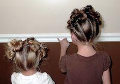 Cute bun crown for little girlies