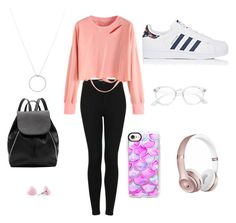 """""""lookk"""" by im96bis on Polyvore featuring Topshop, Casetify, adidas, Witchery, Roberto Coin and Beats by Dr. Dre"""
