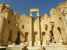 Leptis Magna (was a prominent city of the Roman Empire -  Khoms, Libya