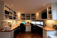 Home office for two by Gum Tree Cabinets