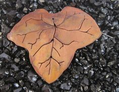 Medium Copper Leaf Brooch - Ivy Leaf £15.00