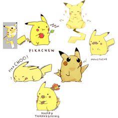 """""""Pikachu Drawings"""" by letthemonstersseeyousmile on Polyvore"""