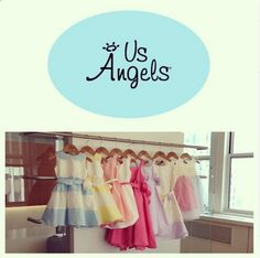 We couldn't be more excited for spring to arrive! Until then, here's a peek into our showroom for our #new #springcollection! #fashionkids #usangels #fashion #cute #instafashion