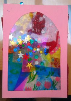 Children's craft - stained glass suncatchers at Aston Hall
