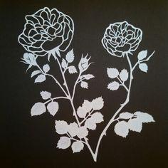 June Rose papercut 2014 by Yvonne Laube