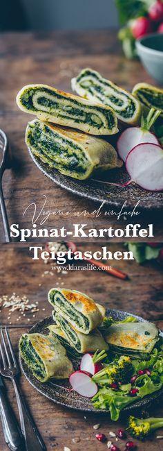 Spinach and potato dumplings (dumplings) - Klara`s Life-Spinat-Kartoffel-Teigtaschen (Maultaschen) – Klara`s Life Spinach and potato dumplings (dumplings) – Klara`s Life - Easy Dinner Recipes, Easy Meals, Fingers Food, Vegetarian Recipes, Healthy Recipes, Fast Recipes, Recipe For 4, Dumplings, Gnocchi