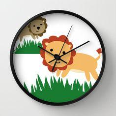 Lion Kindergarten Uhr  Wanduhr  Löwe von ShelleysCrochetOle auf Etsy