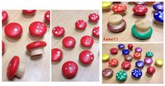 "Painted drawer handles to make toadstools - from Rachel ("",)"