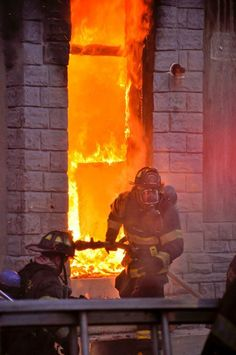 Baltimore City Fire Department firefighters battling a fully-involved structural fire. (photo courtesy of BCFD Shared by LION Firefighter Training, Firefighter Paramedic, Firefighter Quotes, Volunteer Firefighter, Fire Dept, Fire Department, Hot Shots, Rambo, Baltimore City