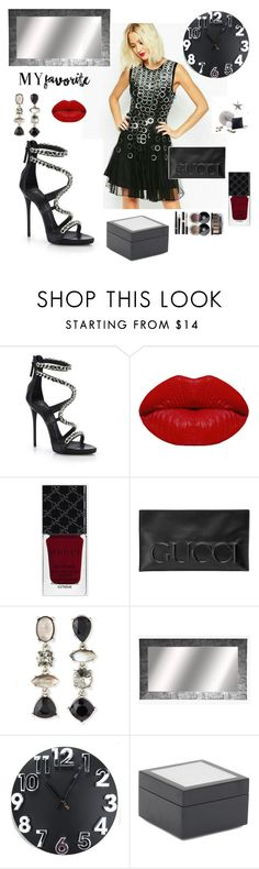 """Cocktail Party Hour"" by kotnourka ❤ liked on Polyvore featuring Giuseppe Zanotti, Winky Lux, Gucci, Oscar de la Renta, Mitchell Gold + Bob Williams, ACME Party Box Company and Chanel"