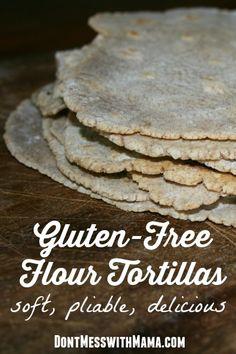 How to Make Gluten-Free Flour Tortillas Recipe #glutenfree #recipe - DontMesswithMama.com