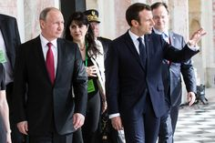 Marcon. A good leader. He met with Putin for a reset of relations after a tense electoral campaign in which the Russian leader openly supported Macron's opponent.