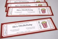INVITATIONS: Movie Night or Theme Party